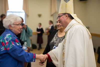 Sisters of the Congregation of St. Joseph talking with His Excellency