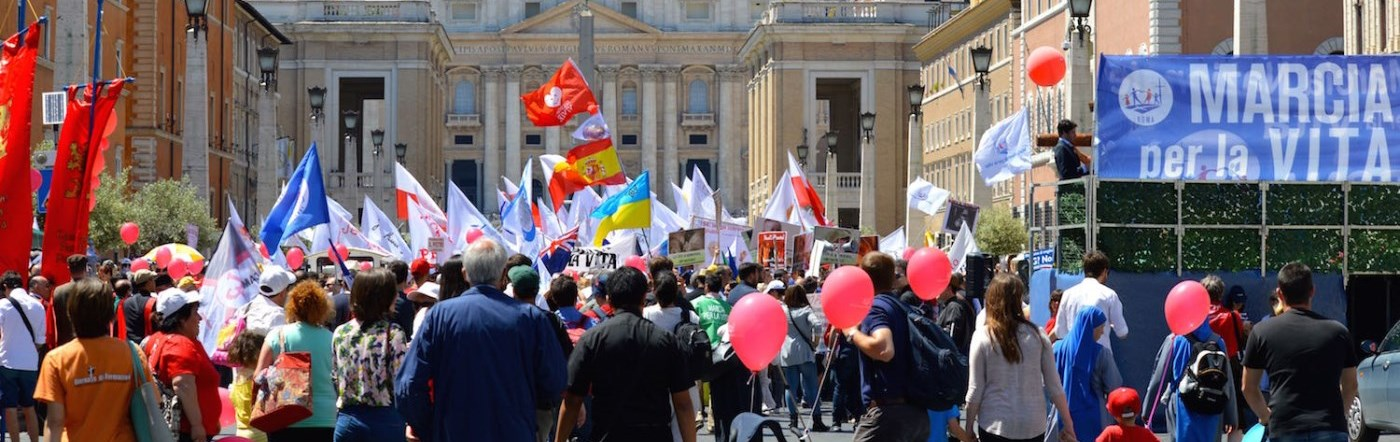 March for Life in Rome, Italy