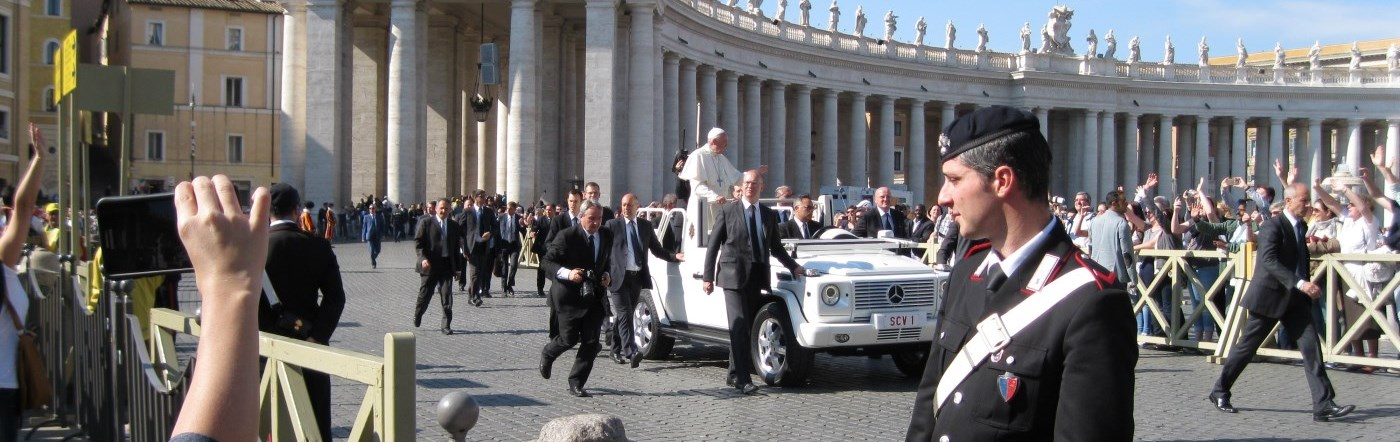 General Audience with Pope Francis in Rome, Italy