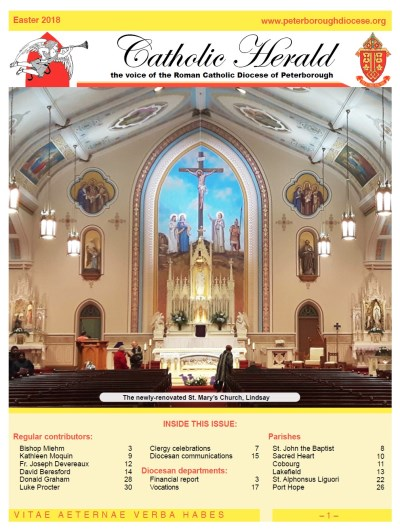 Front page of The Catholic Herald - Easter 2018