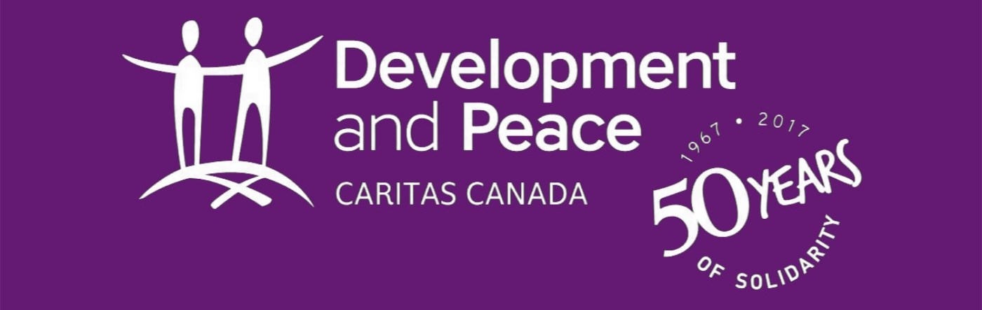 50th Anniversary logo for Development and Peace