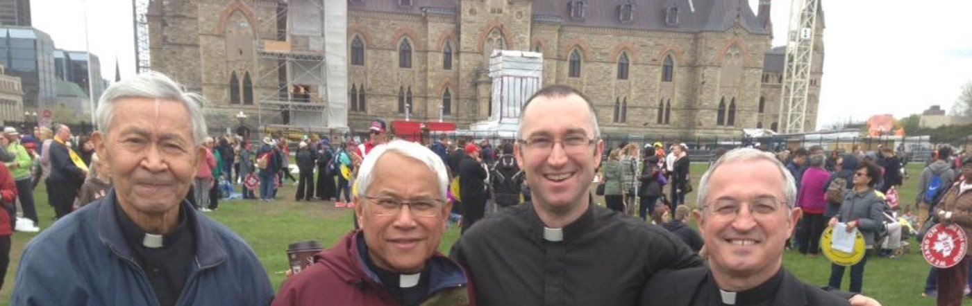 Priests from the Diocese of Peterborough at March for Life in Ottawa